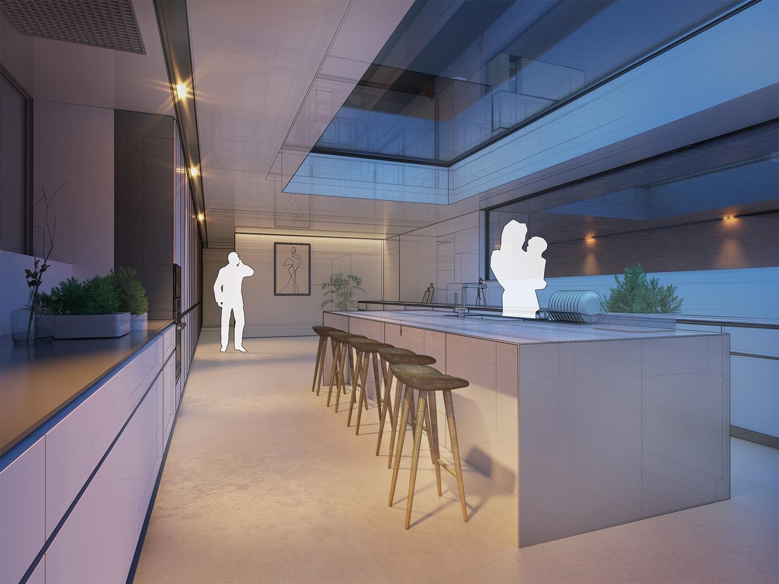 Interieur ontwerpen met V-ray voorbeeld