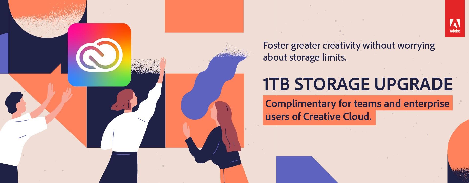 Meer cloudopslag op Creative Cloud